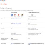 google-adsettings
